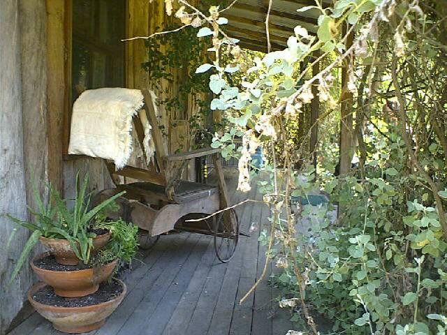 Cute set up on the veranda