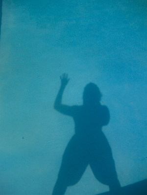 Three of me in da pool