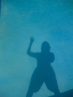 Three of me in da pool