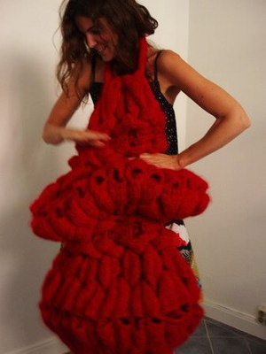 Sandra Backlund's little red evening dress