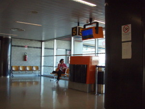 Aaah, the airport wait