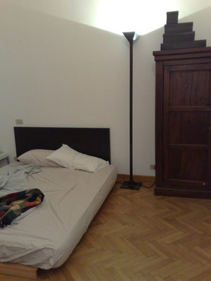My bed in Milan