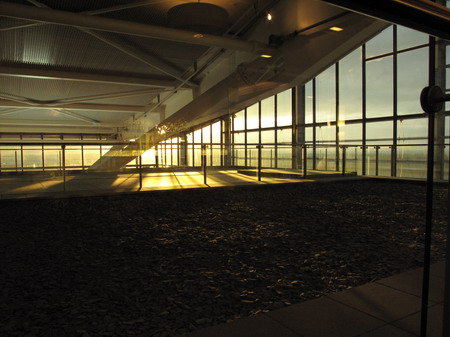 Sunrise at the BA lounge