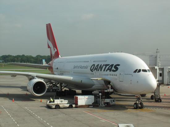 Airbus 380 at Singapore