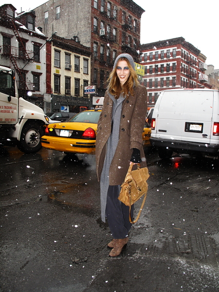 In the snow after Derek Lam