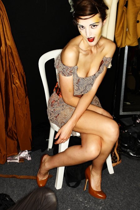 Vivienne Westwood Gold Label SS 2011 Collection Paris Backstage