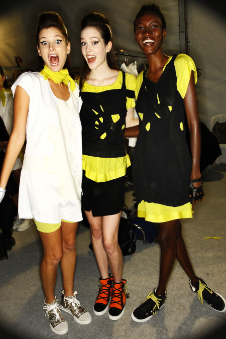 Marithe & Francois Girbaud SS2011 Collection Backstage Paris