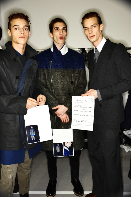 Dries Van Noten AW2011 Collection Men Paris Backstage