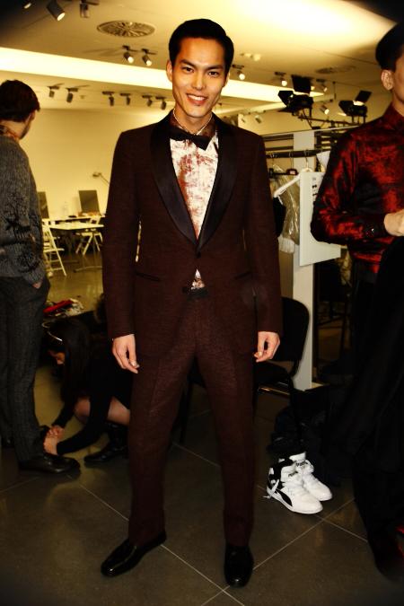 Ermenegildo Zegna Men's AW2011 Collection Backstage Milan