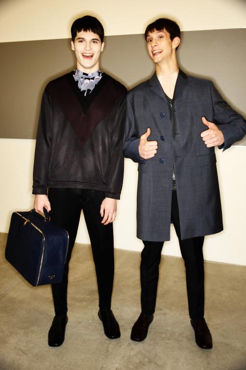 Prada Men's AW2011 Collection Backstage Milan