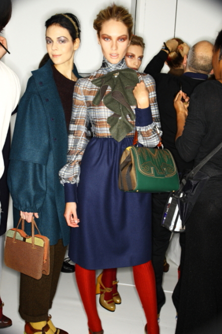 Fendi FW 2011 Collection Show Milan Backstage
