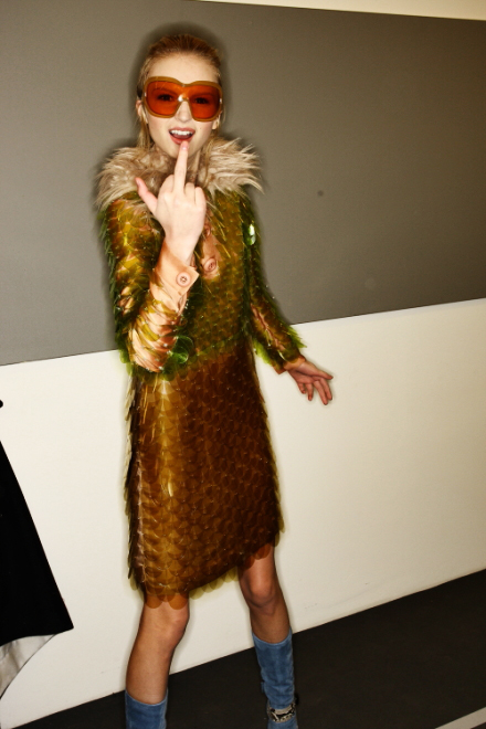 Prada FW 2011 Collection Show Milan Backstage