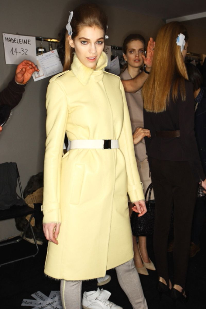 Max Mara FW 2011 Collection Show Milan Backstage