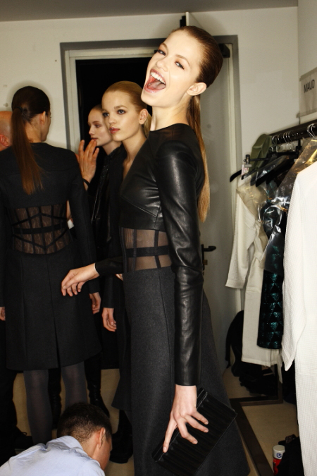 Versus FW 2011 Collection Show Backstage Milan