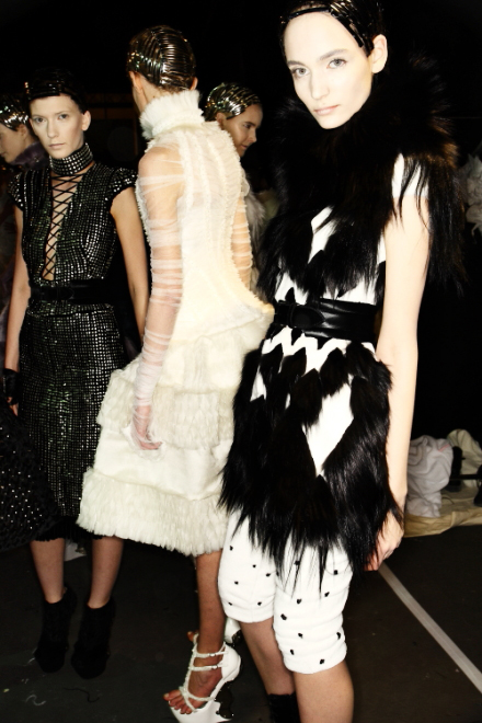 McQueen FW11 Collection Paris Backstage