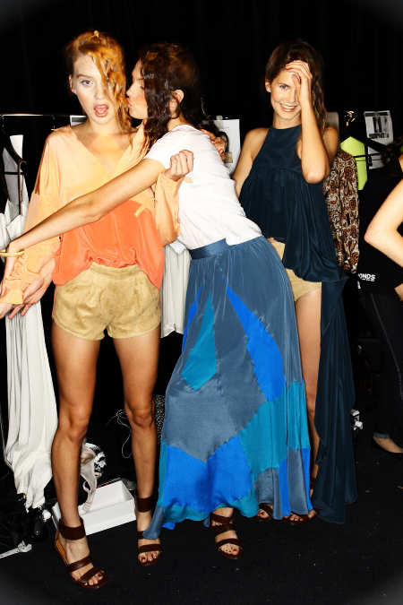 Talulah SS11-12 Fashion Show Sydney Backstage