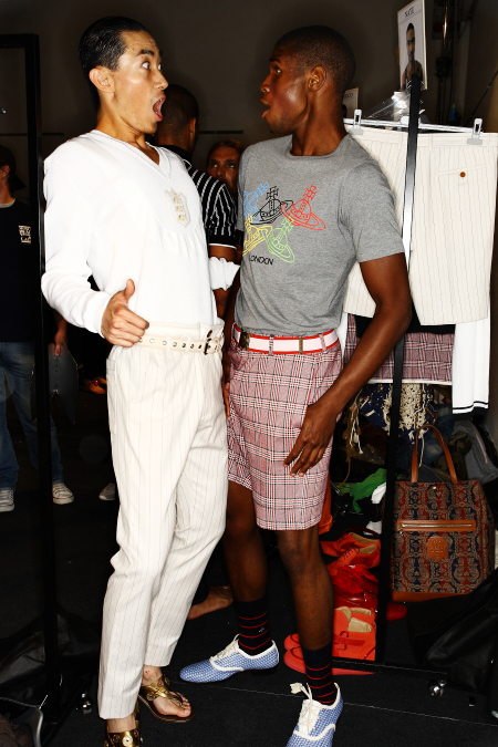Vivienne Westwood Men's SS 12 Fashion Show Milan Backstage