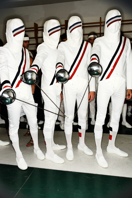 Moncler Gamme Bleu Men's SS 12 Fashion Show Milan Backstage