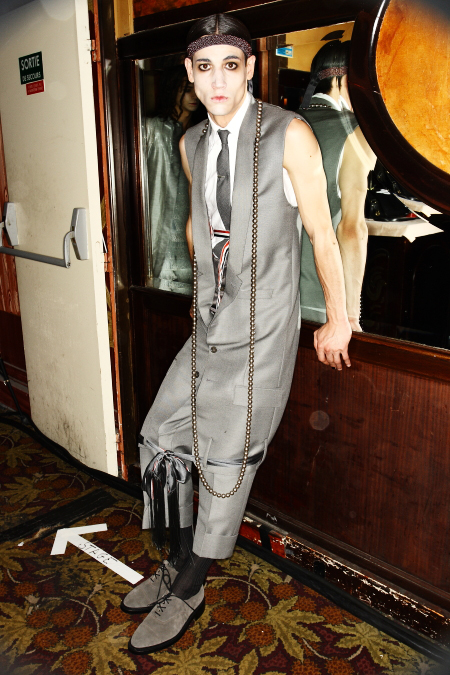 Thom Browne Men's SS 12 Fashion Paris Backstage ( at Maxims )