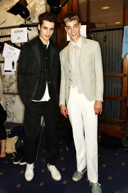 Salvatore Ferragamo Men's SS 12 Fashion Show Milan Backstage