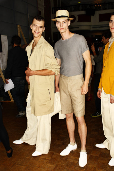 Roland Mouret, Mr SS 12 Men's Fashion Show Paris Backstage