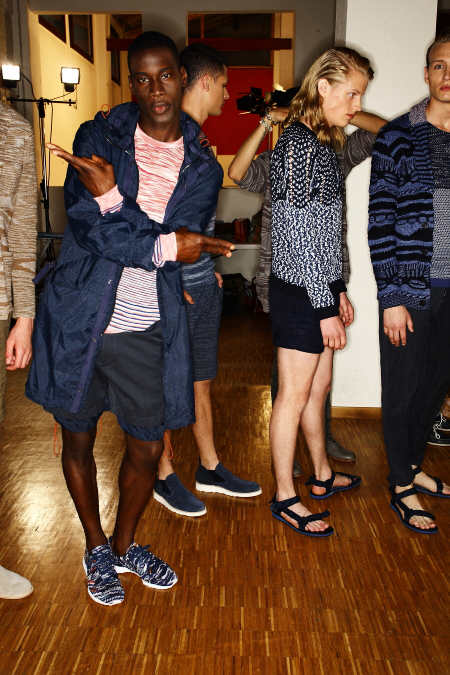 Missoni Men's SS 12 Fashion Show Milan Backstage