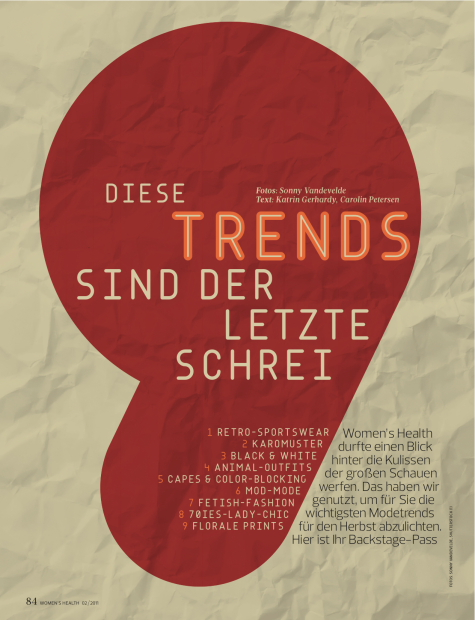 9 Trends for German Women's Magazine