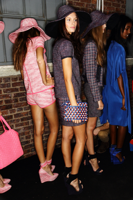 DKNY SS12 Fashion Show New York Backstage