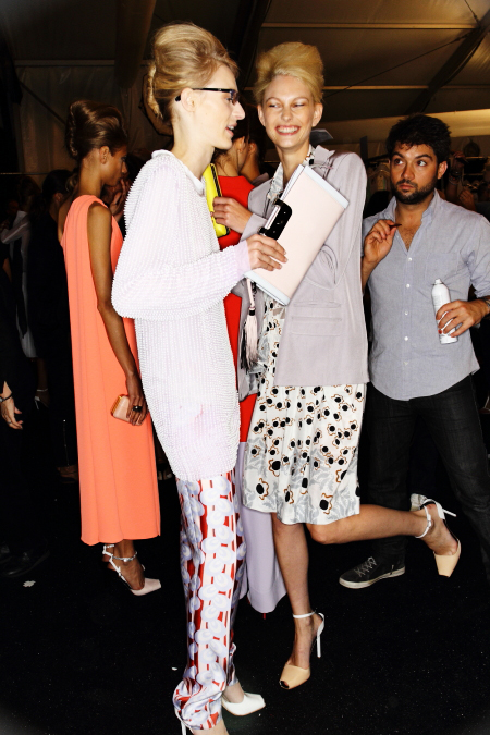 Diane Von Furstenberg SS12 Fashion Show Backstage New York