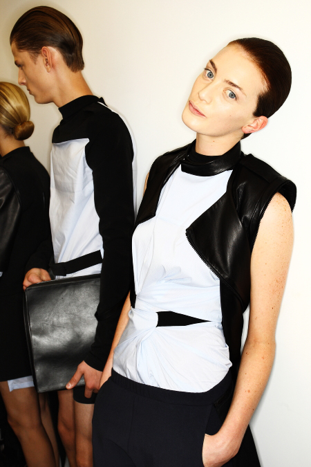 Rad Hourani SS12 Fashion Show New York Backstage