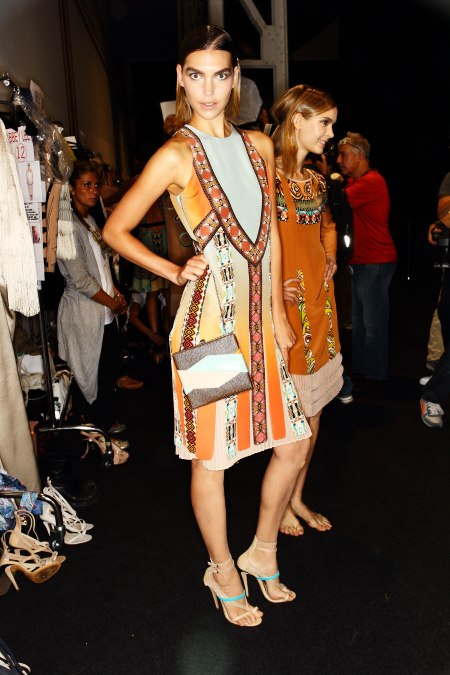 ETRO SS12 Fashion show Milan Backstage