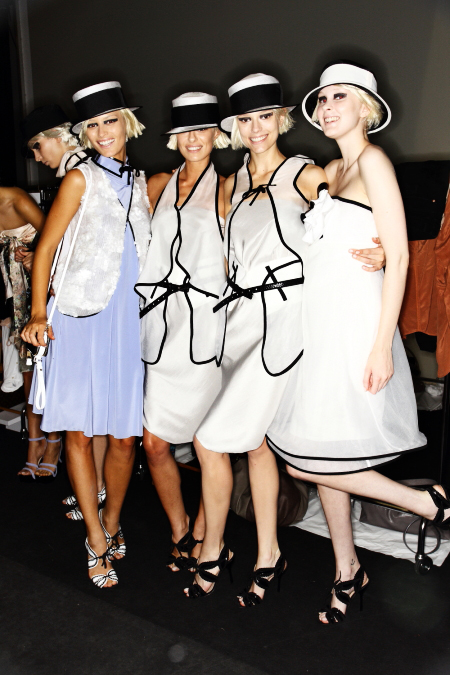 Emporio Armani SS12 Fashion Show Milan Backstage