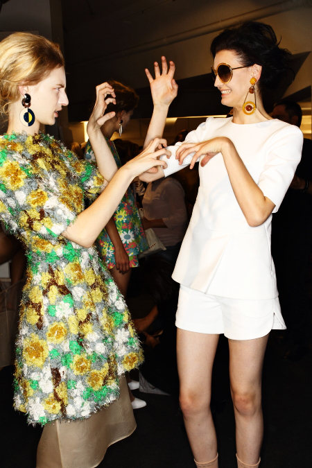 Marni SS12 Fashion Show Milan Backstage