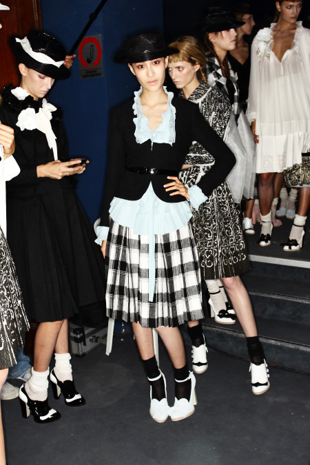 John Galliano SS12 Fashion show Paris Backstage