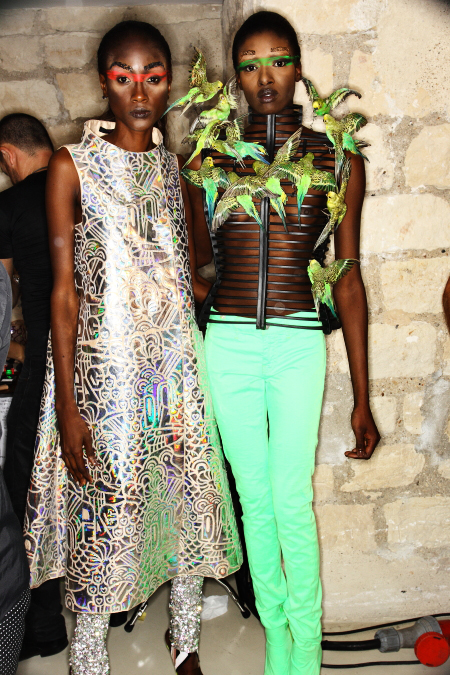 Manish Arora SS12 Fashion Show Paris Backstage