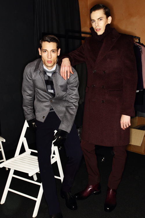 Salvatore Ferragamo Men AW12 Fashion Show Milan Backstage