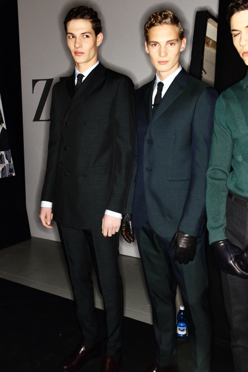 Z Zegna AW12 Men Fashion Show Milan Backstage