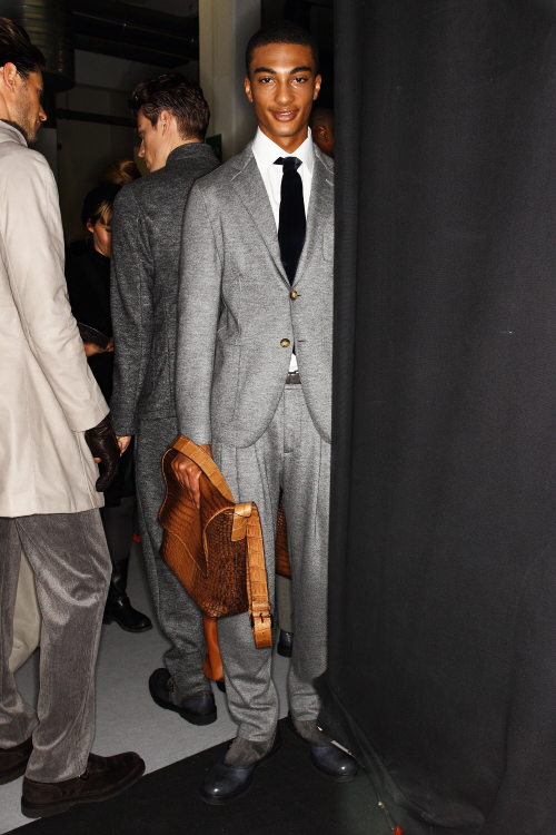 Giorgio Armani AW12 Men Fashion Show Milan Backstage