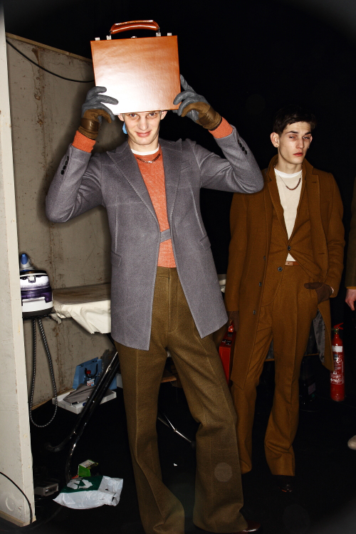 Lanvin AW12 Men Fashion Show Paris Backstage