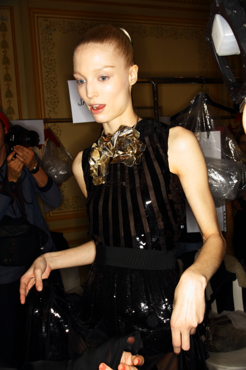 Giambattista Valli Haute Couture show Paris Backstage