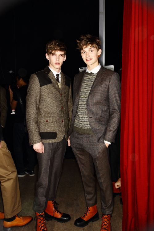 Oscar Jacobson AW12 Fashion Show Stockholm Backstage