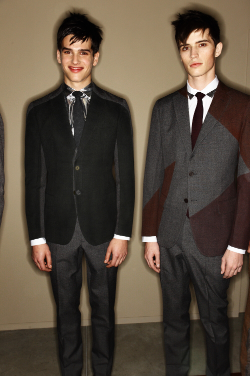 Bottega Veneta AW12 Mens Fashion Show Milan Backstage