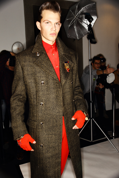Versace AW12 Men Fashion Show Milan Backstage