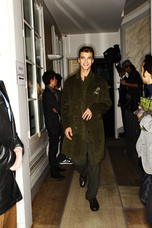 Cerruti AW 12 Men Fashion Show Paris Backstage
