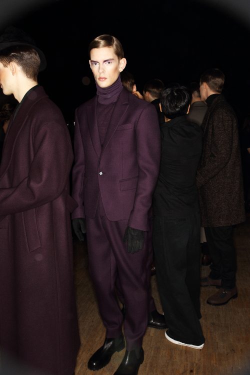Songzio AW12 Men Fashion show Paris Backstage