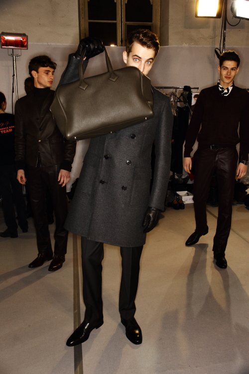 Hermes AW 12 Men Fashion Show Paris Backstage