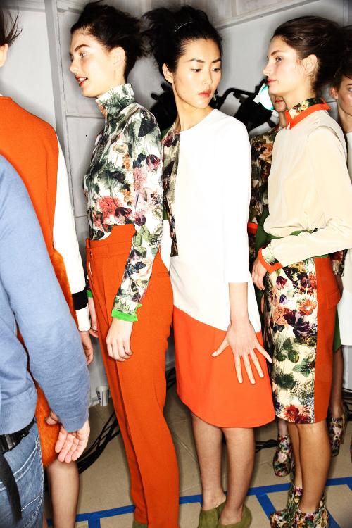 Preen by Thornton Bregazzi AW12 Fashion Show New York Backstage