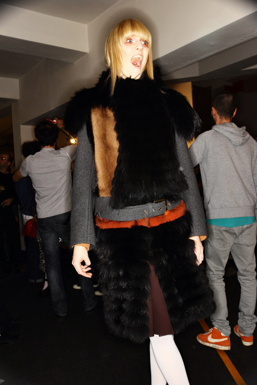 Marni AW12 Fashion Show Milan Backstage