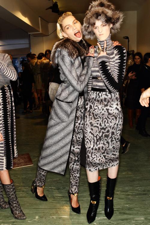 Missoni AW12 Fashion Show Milan Backstage