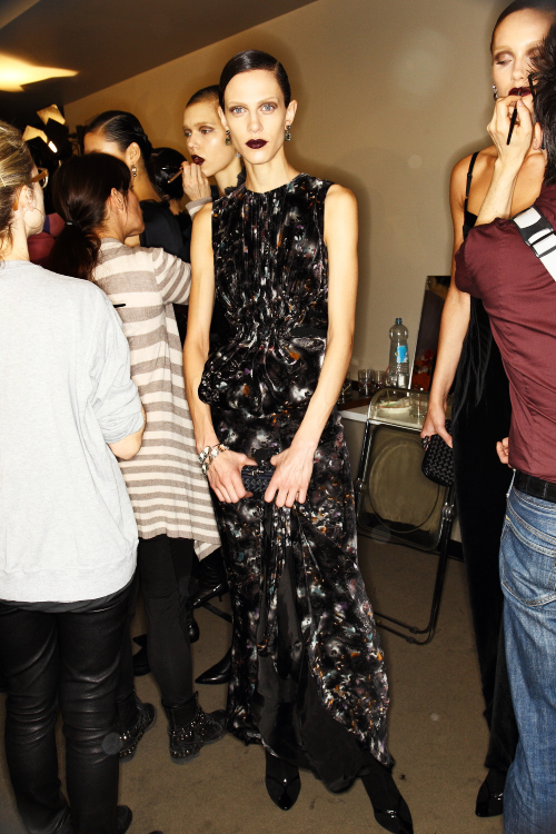 Bottega Veneta AW12 Fashion Show Milan Backstage